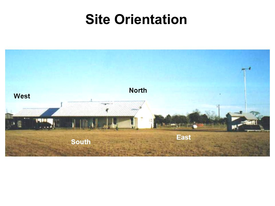 Site Orientation North South West East