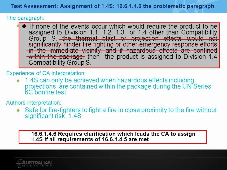UN Series 6C External Fire Test Issues with consistent conduct of