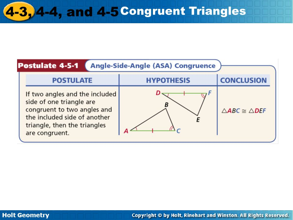 4 3 4 4 And 4 5 Congruent Triangles Warm Up Lesson