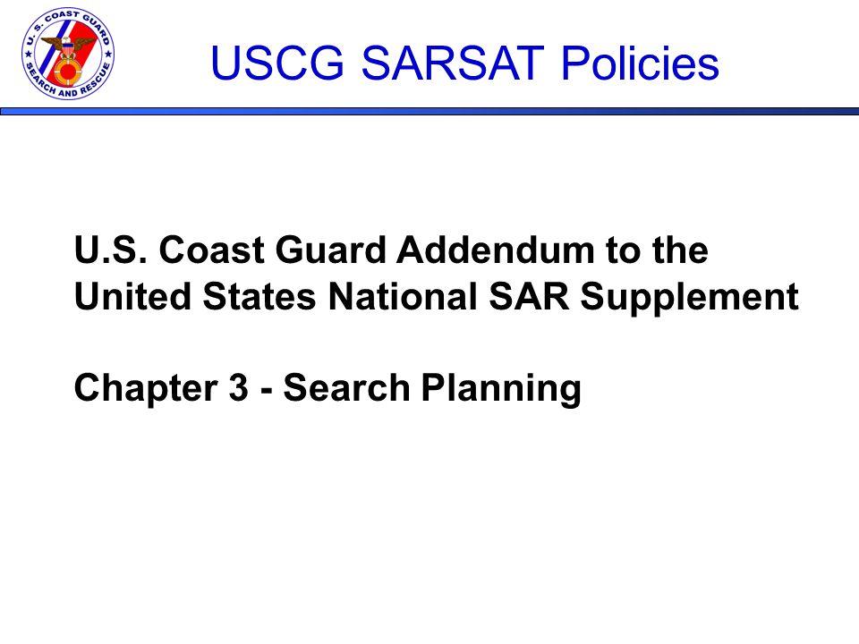 USCG & SARSAT  U S  SAR System National SAR
