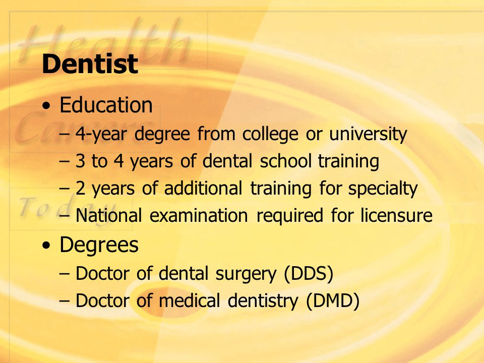 DENTAL CAREERS  Careers in Dentistry The goal of the dental