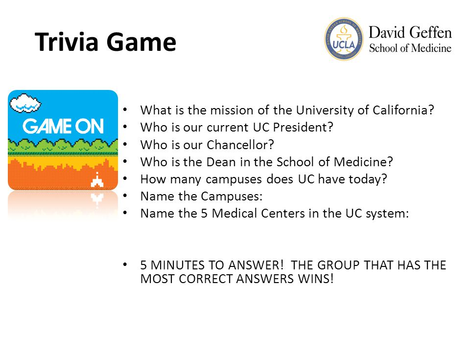 UCLA Health Sciences Overview Entities Comprising UCLA