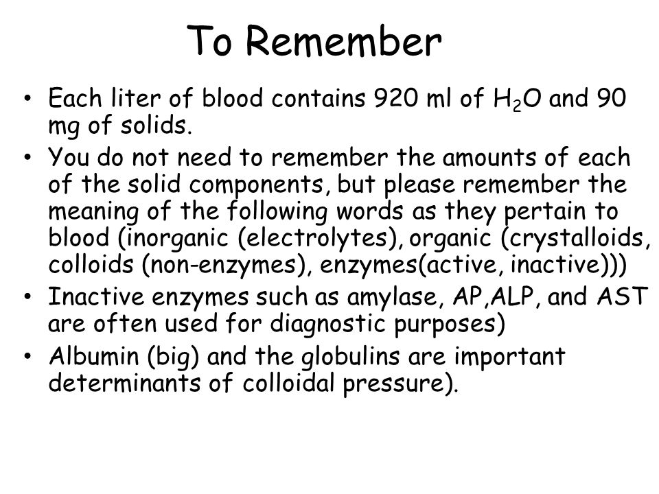 Blood (chapter 15 of your textbook)  Topics What is blood