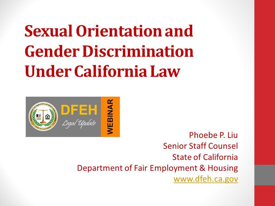 Sexual discrimination laws in california