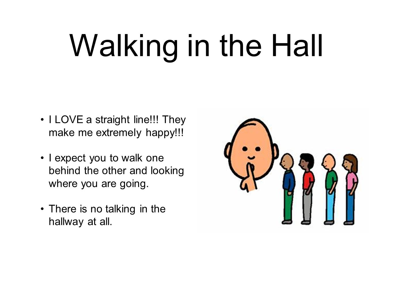 Walking in the Hall I LOVE a straight line!!. They make me extremely happy!!.