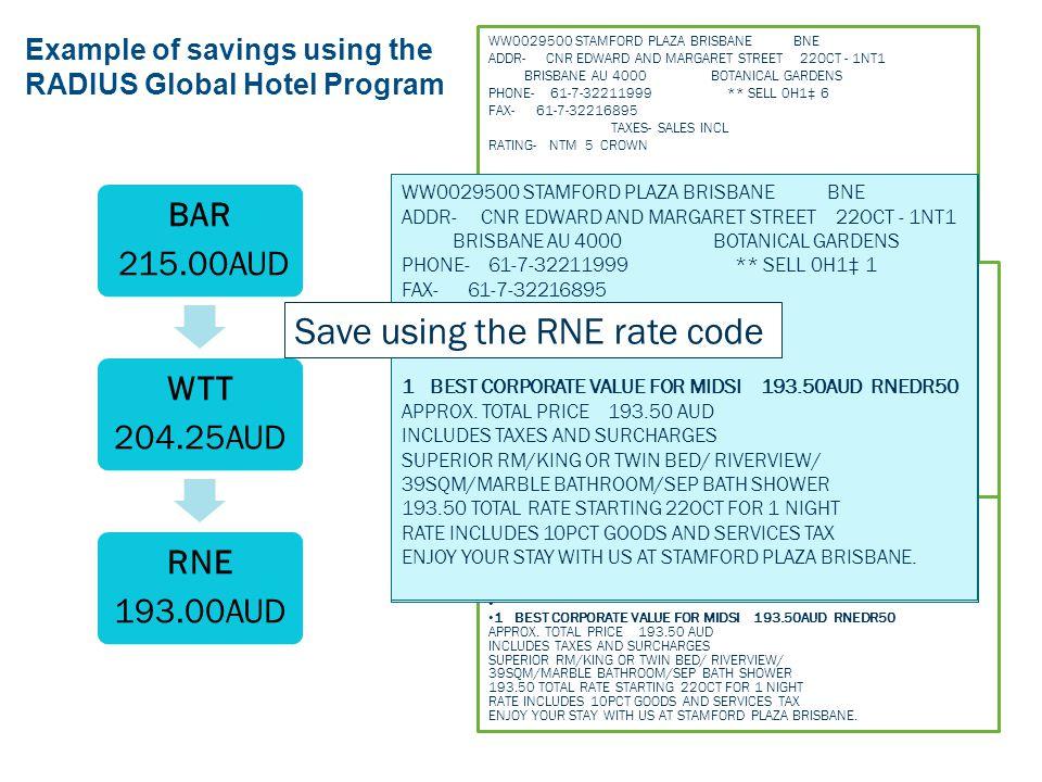 The RADIUS Global Hotel Program Maximize Your Savings