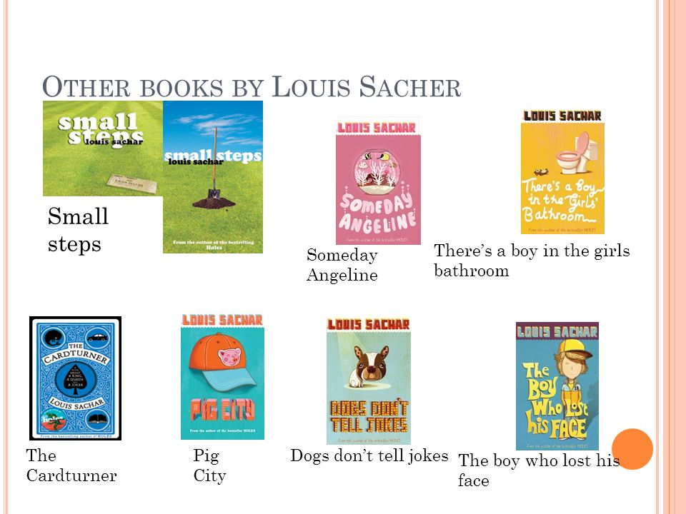 By Hannah A Bout The A Uthor Name Louis Sacher Dob 20 March 1954