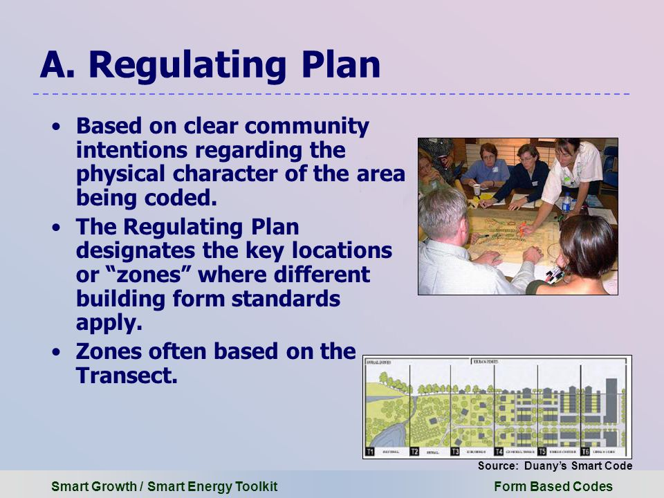 Smart Growth / Smart Energy Toolkit Form Based Codes A.