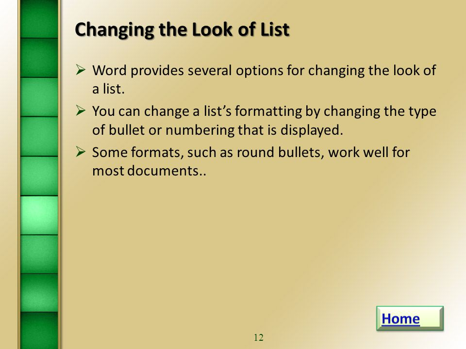 1 Word 2010 Level 1 Chapter 4paragraph Formatting Part 2 List