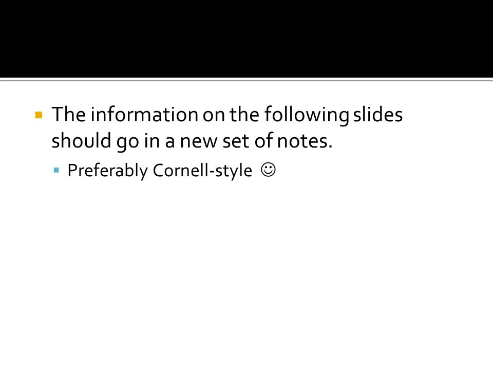  The information on the following slides should go in a new set of notes.