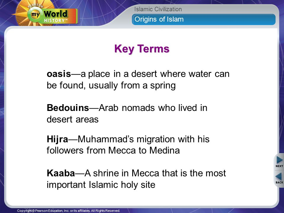 Islamic Civilization Copyright © Pearson Education, Inc  or