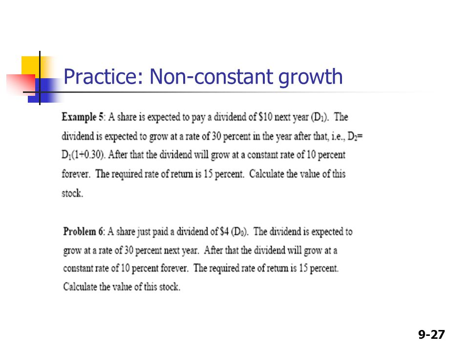 9-27 Practice: Non-constant growth