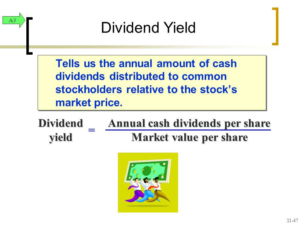 Tells us the annual amount of cash dividends distributed to common stockholders relative to the stock's market price.