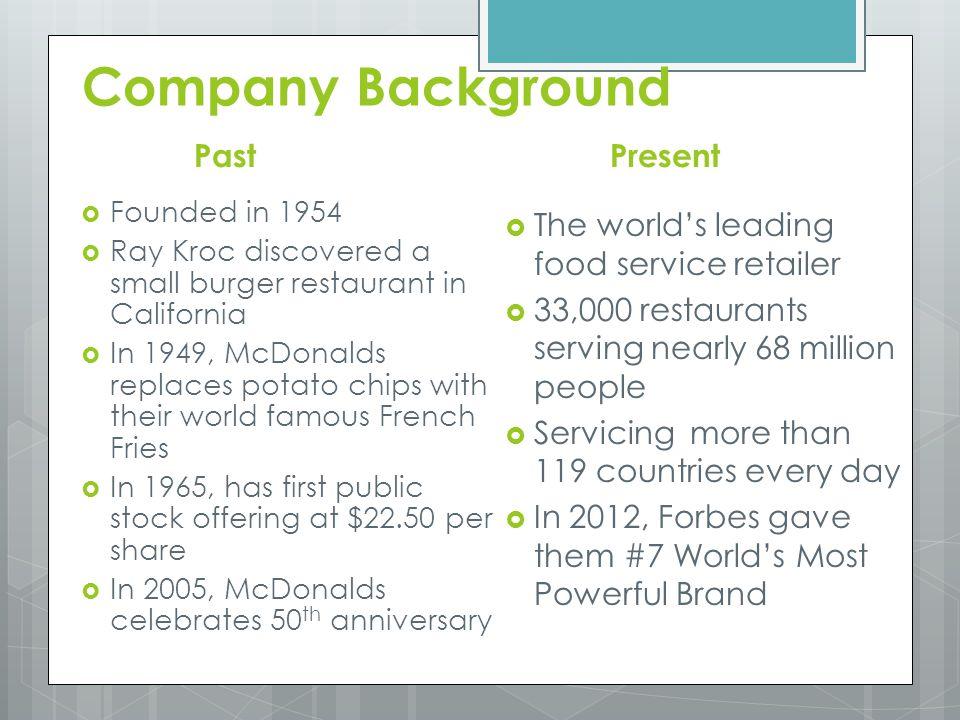 mcdonalds executive summary