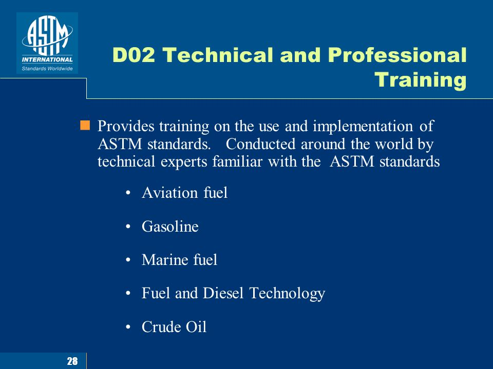 1 An Introduction ASTM International Standards for Biofuels