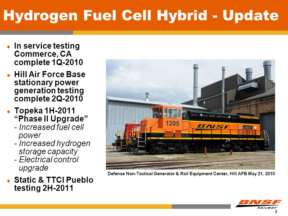 0 BNSF Railway Alternative Fuels for Locomotives Discussion