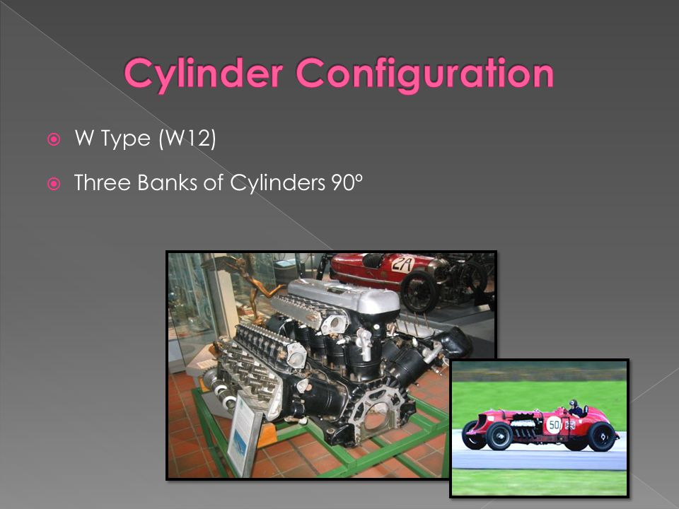  W Type (W12)  Three Banks of Cylinders 90º