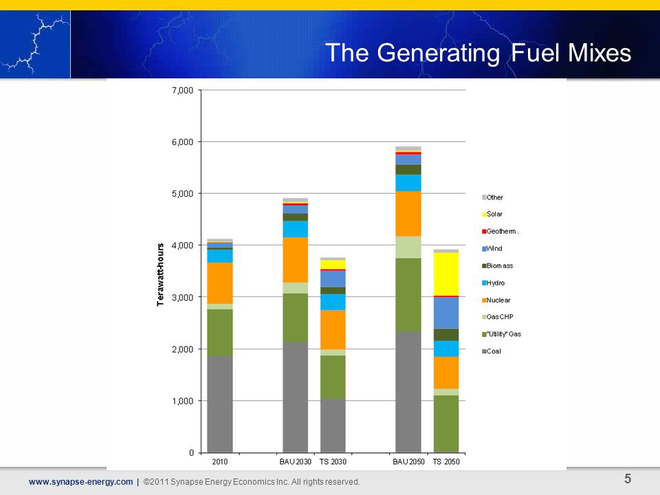 The Generating Fuel Mixes   | ©2011 Synapse Energy Economics Inc.