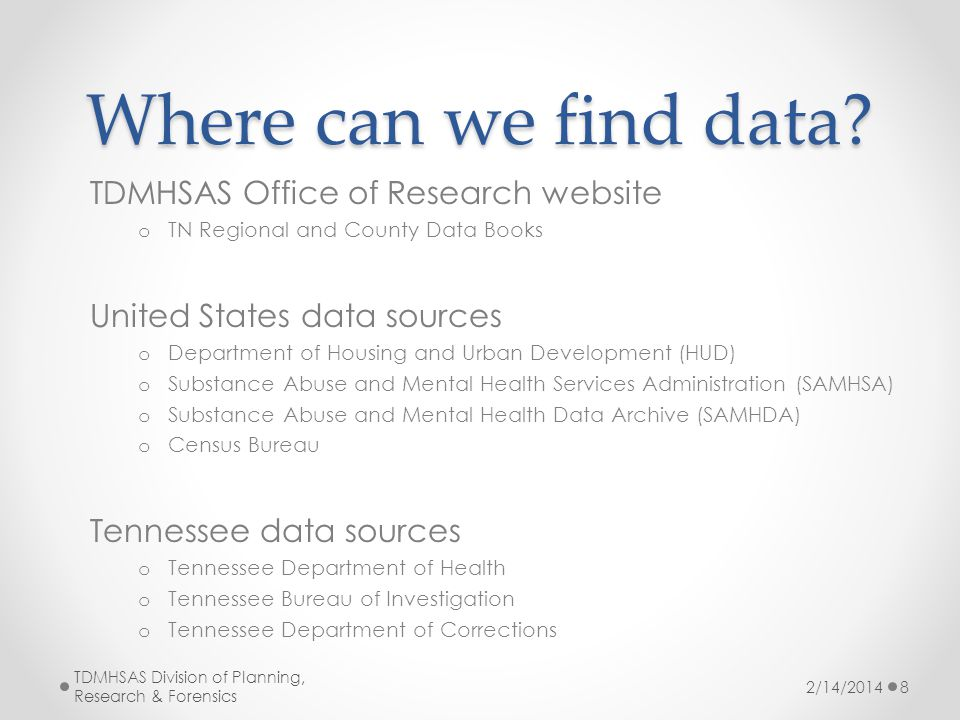 Where can we find data.