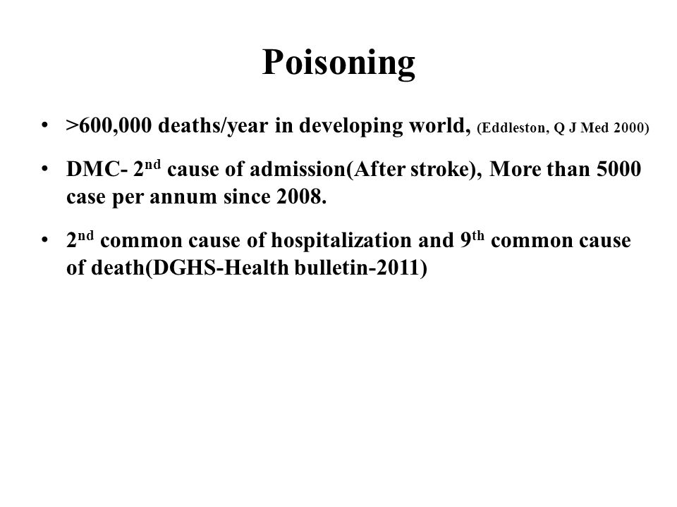 Situation of Common Poisoning in Bangladesh Dr Md Robed Amin