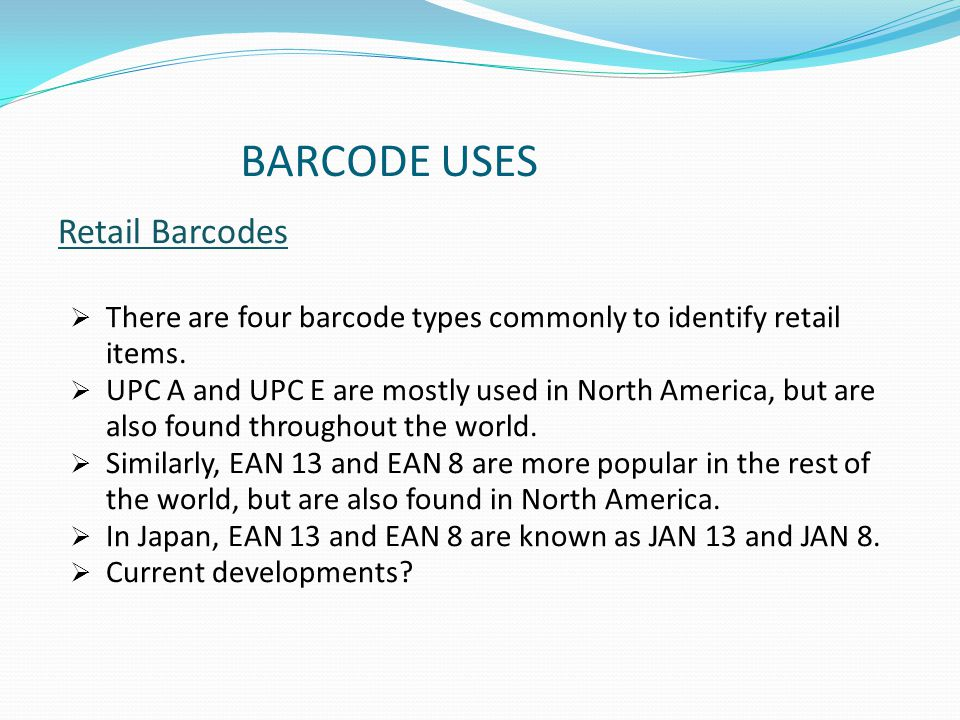 Barcodes And Radio Frequency Identification  Presented by- 1