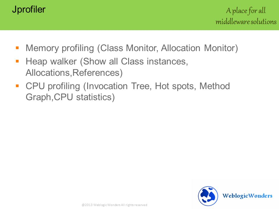 Memory Leak WEBLOGIC SERVER   Overview of Java Heap