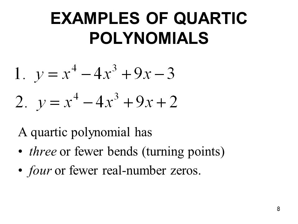 1 Section 51 Solving Polynomial Equations 2 Polynomial Equations