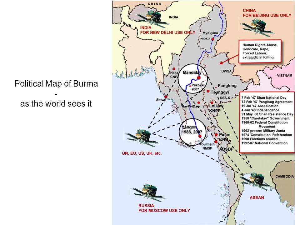 Burma Political Map.Shans In Burma February Shan State Political Map Of Burma As The