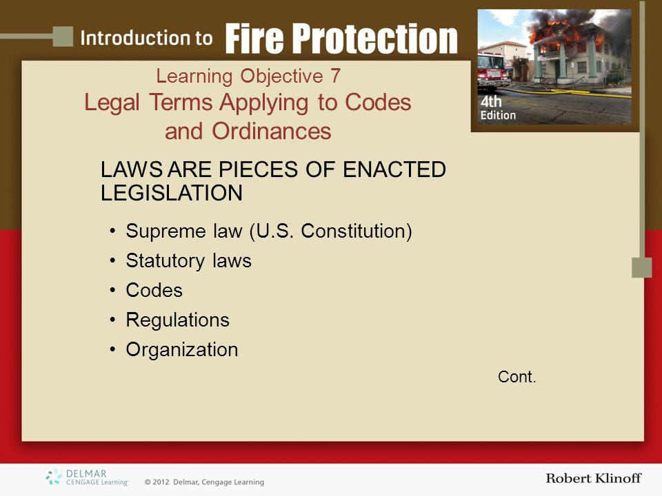LAWS ARE PIECES OF ENACTED LEGISLATION Supreme law (U.S.