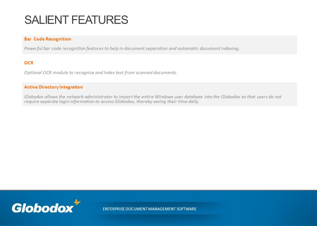 WHAT IS GLOBODOX? GLOBODOX is a document management software