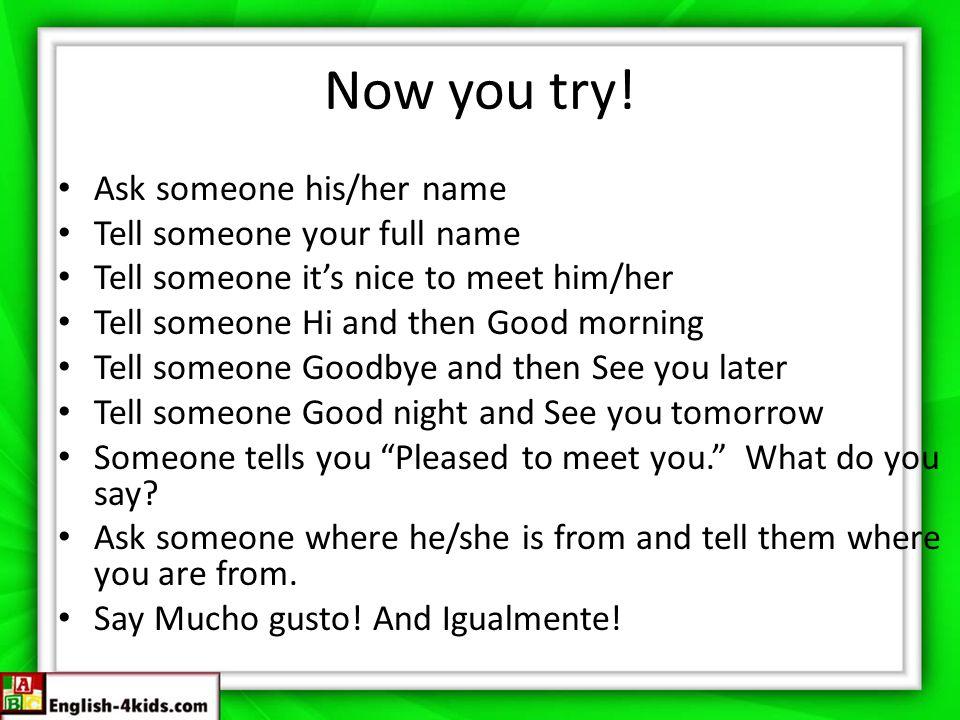 English lesson 1 greetingsintroductionsorigins hi or hello hola 3 now m4hsunfo