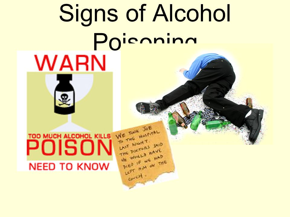 Signs of Alcohol Poisoning