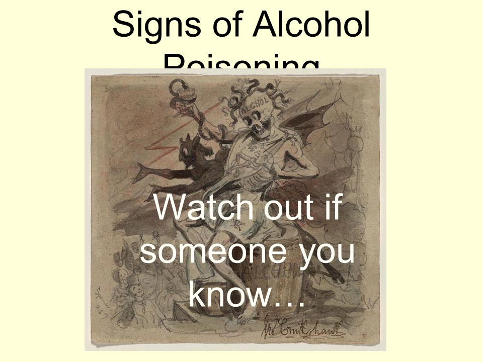 Signs of Alcohol Poisoning Watch out if someone you know…