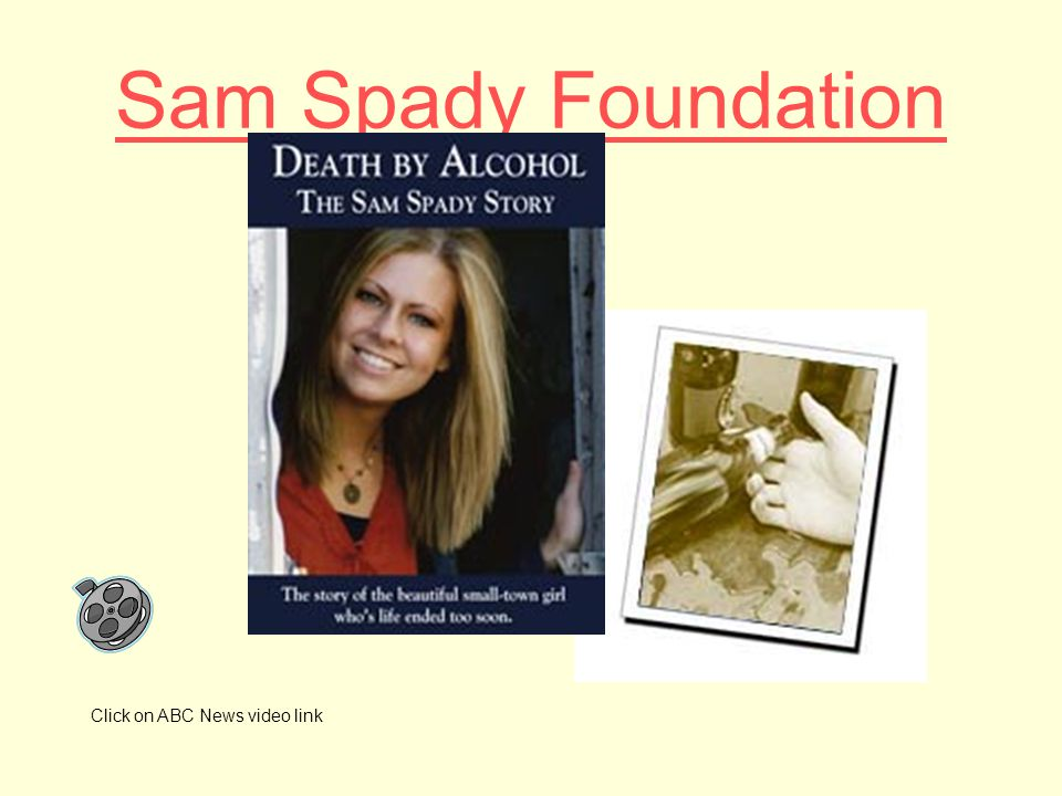 Sam Spady Foundation Click on ABC News video link