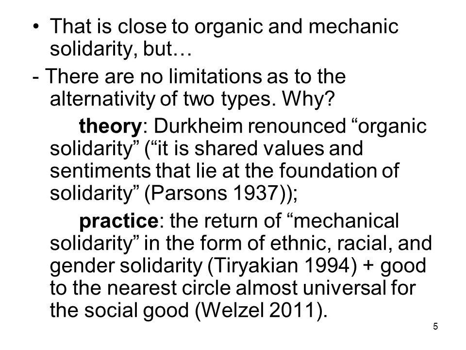 types of social solidarity