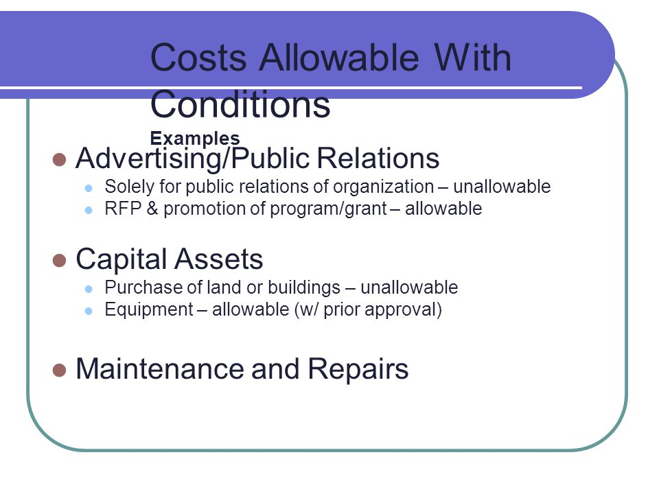 Cost Principles & Selected Items of Cost 2 CFR 225, 2 CFR