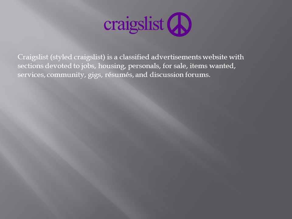Online businesses A list of 10 of them  Craigslist (styled