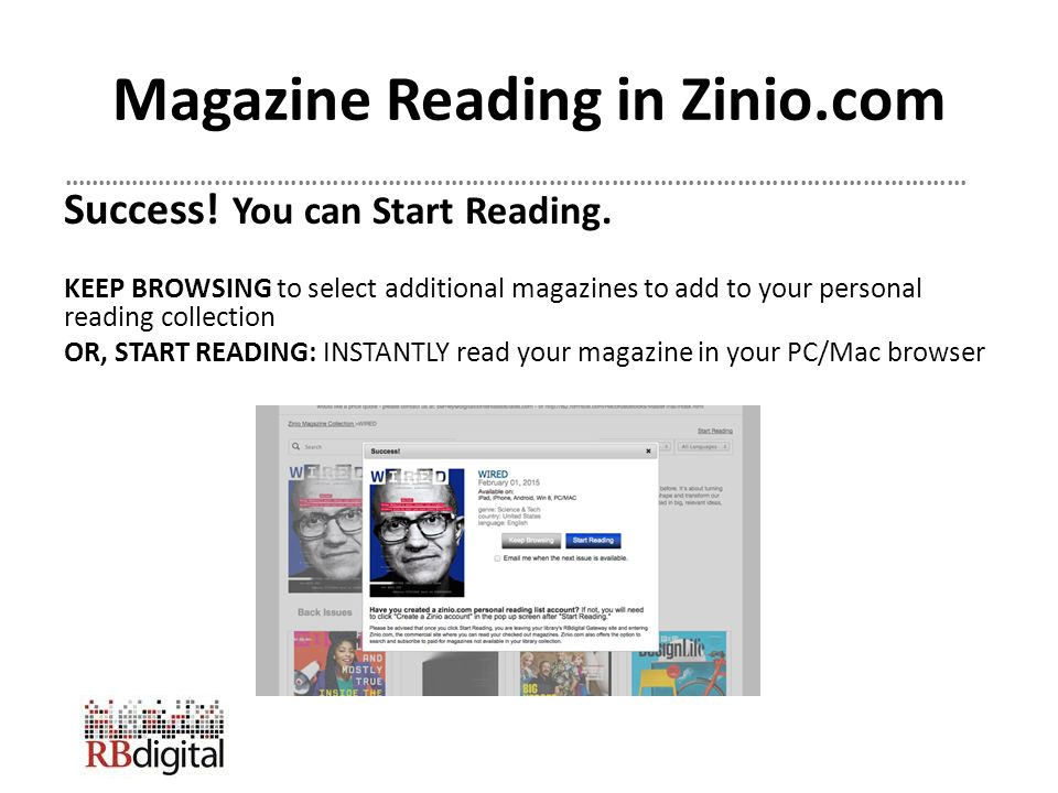 Zinio for Libraries  - ppt download