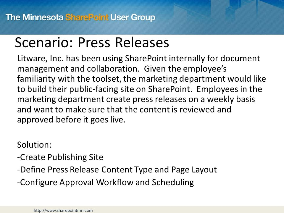 Scenario: Press Releases Litware, Inc.