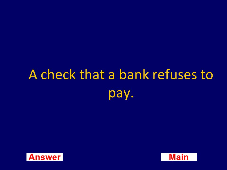 Main New Question Answer What is a checking account