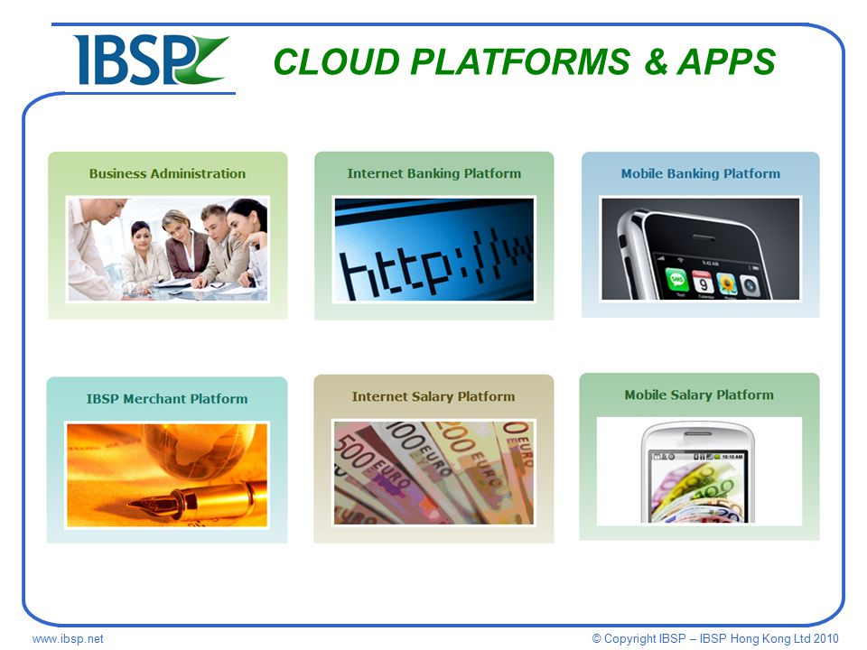 © Copyright IBSP – IBSP Hong Kong Ltd CLOUD PLATFORMS & APPS
