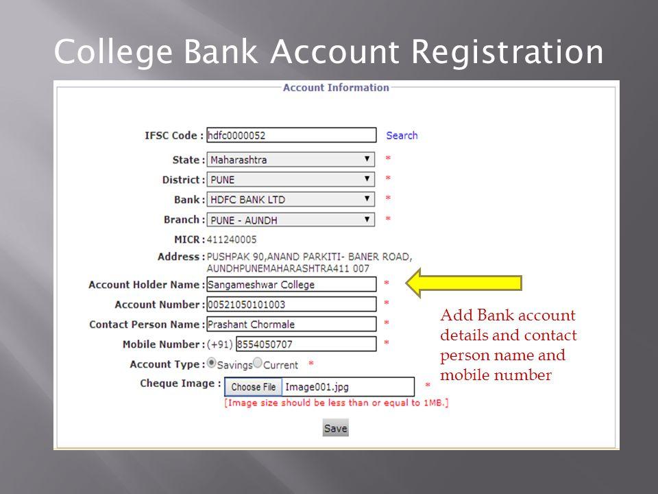 College Bank Registration College will login in Digital