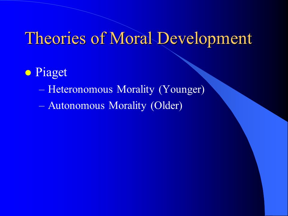 Issues of Development l Does Moral Development Fall Within the Domain of the Classroom Teacher