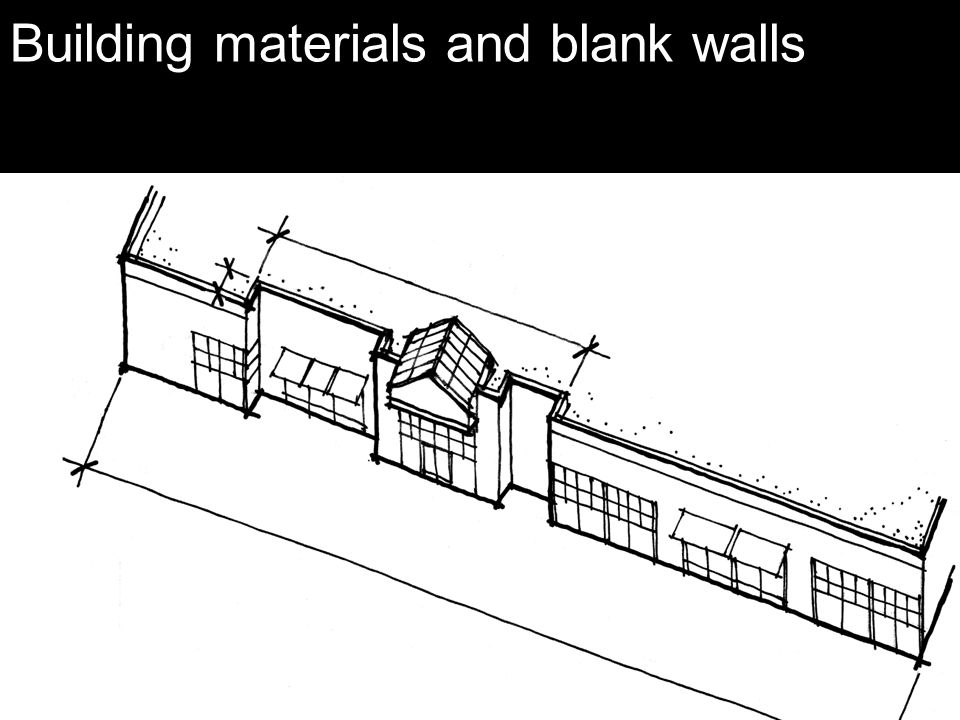 Building materials and blank walls