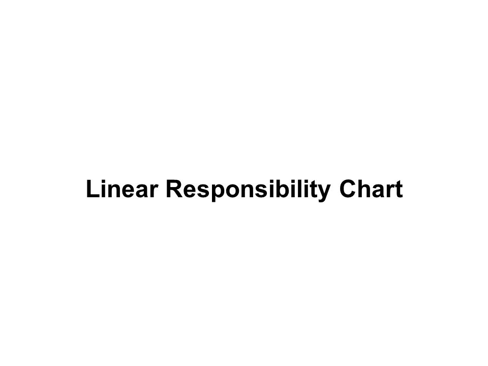 Linear Responsibility Chart