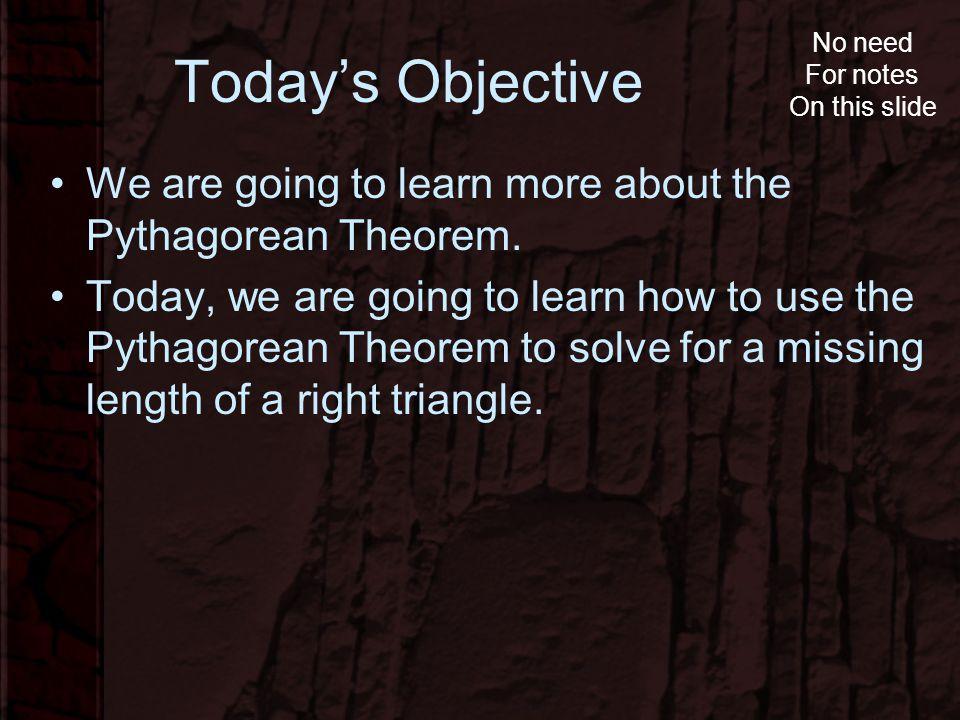Pythagorean Theorem Created by: Matthew Funke 8 th Grade Math ...