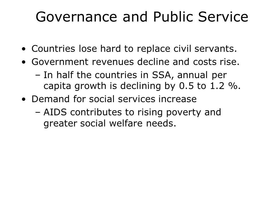 Governance and Public Service Countries lose hard to replace civil servants.