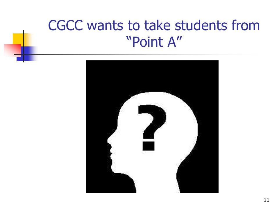 11 CGCC wants to take students from Point A