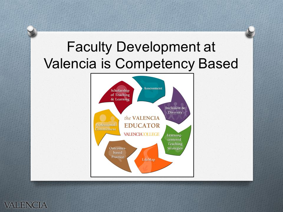 Faculty Development at Valencia is Competency Based