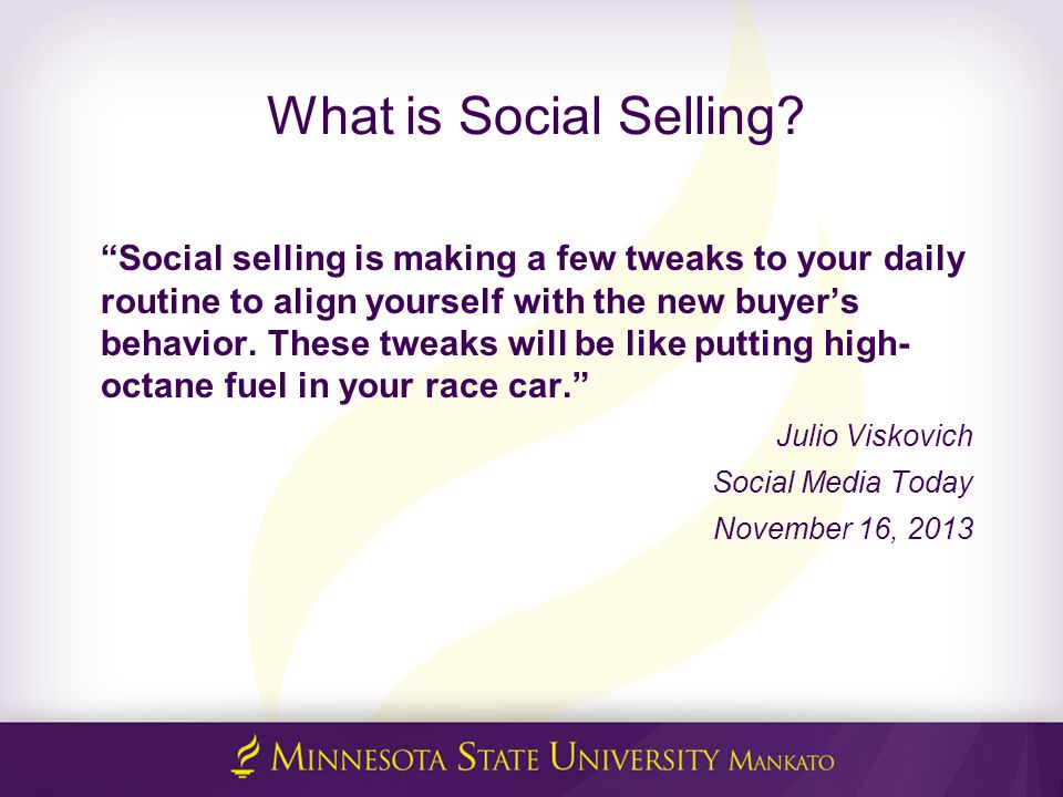 What is Social Selling.